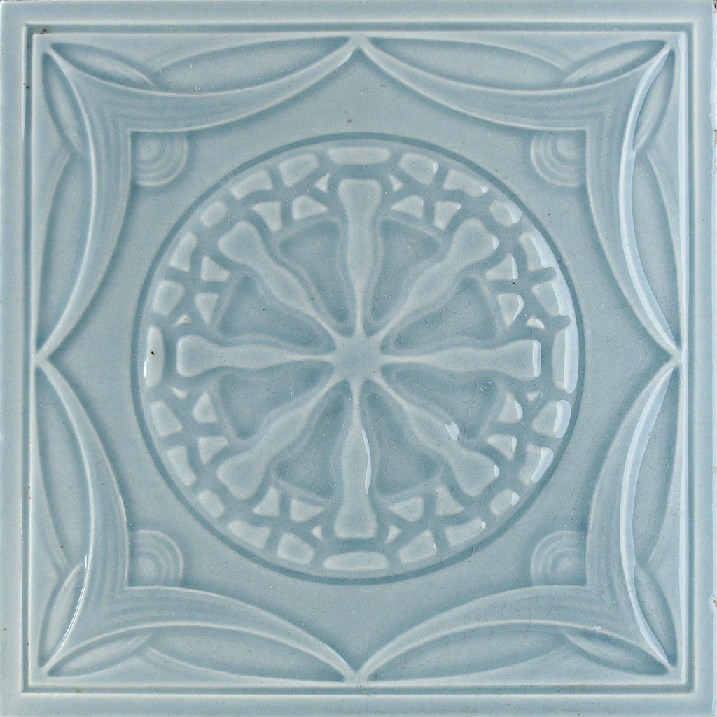c.1900 Mügeln German Art Nouveau Tile #2, Now Framed