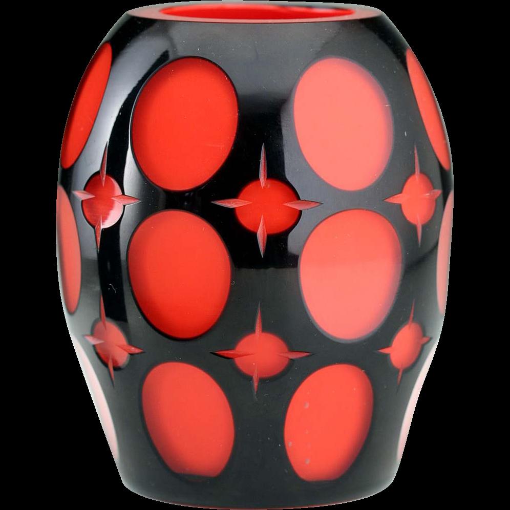 C1914 20 johann oertel black cut to red glass vase halcyon c1914 20 johann oertel black cut to red glass vase halcyon house fine antiques ruby lane reviewsmspy