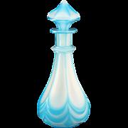 c.1850 Bohemian Cased & Cut Alabaster Glass Scent Perfume Bottle