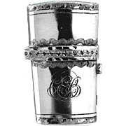 1800 Georgian Engraved Silver Scent Perfume Bottle Etui