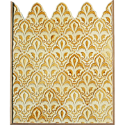 c.1890s original Craven Dunnill tile panel from Nevills New Turkish Bath, Old Broad Street, London