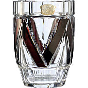 Val st lambert cameo carved crystal art vase by charles from halcyon - Idee deco vase transparent ...