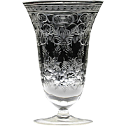 c.1950s Finely Engraved Crystal Vase