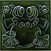 c.1905 English Art Nouveau tile #3