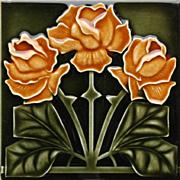c.1900 NSTG German Art Nouveau tile #6