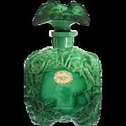 1930s Ingrid Deco malachite glass scent perfume bottle, Schlevogt CZ