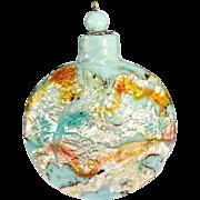 c.1890 Venetian blue glass scent perfume bottle