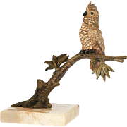 c.1930s perched cockatoo cold painted Vienna bronze