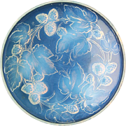 c.1930s Leunox Deco opalescent loganberry dish charger
