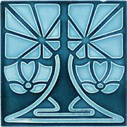 c.1905 Continental Art Nouveau tile