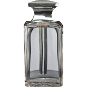 1938 cut crystal Deco dressing table bottle, sterling silver top