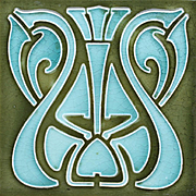 c.1905 German Art Nouveau tile, Tonwerk Offstein #2