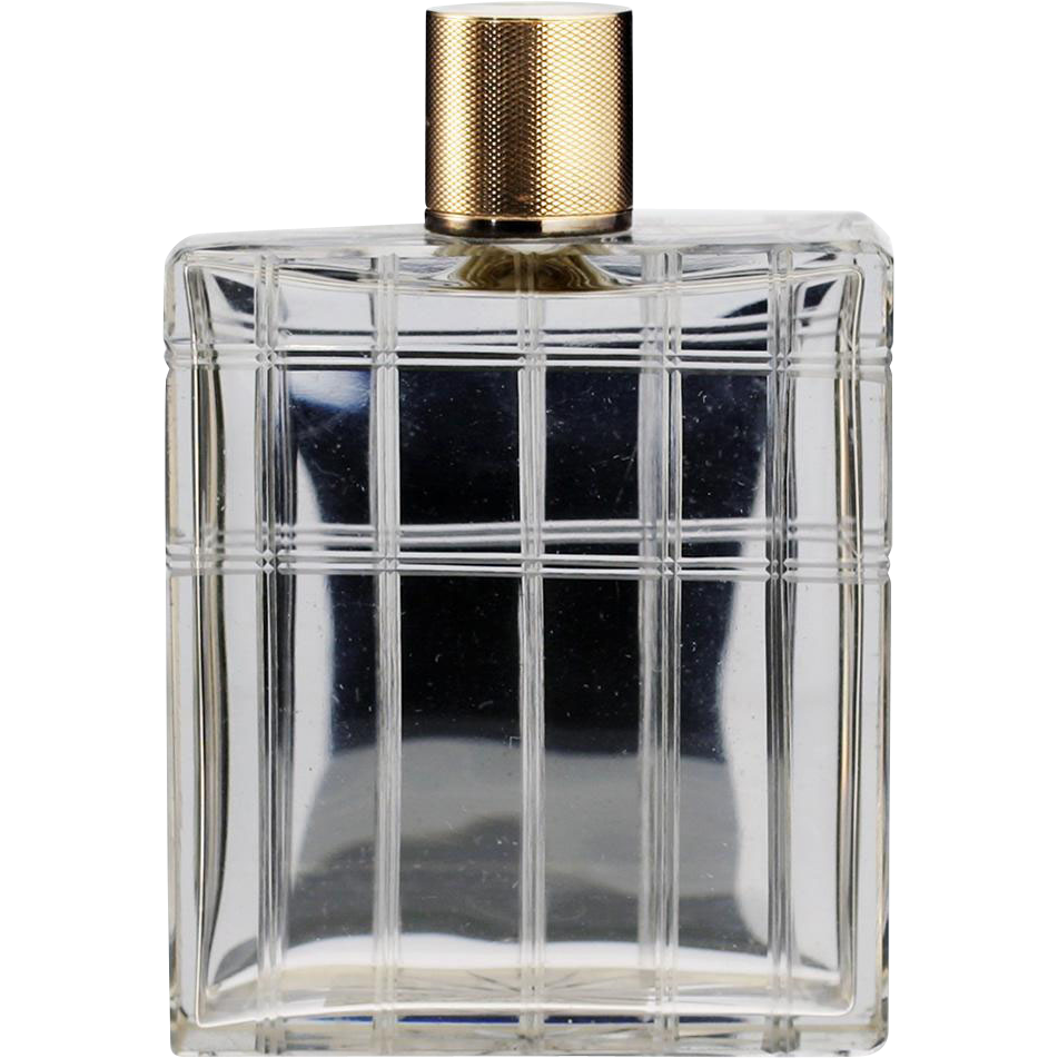 1942 Mappin & Webb crystal dressing table scent perfume bottle #3, silver gilt top