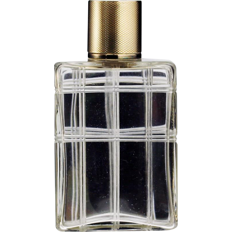 1942 Mappin & Webb crystal dressing table scent perfume bottle #2, silver gilt top