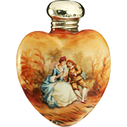 1903 Porcelain Scent Perfume Bottle with Couple Motif