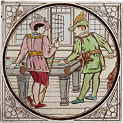c.1880 Malkin games tile, Billiards