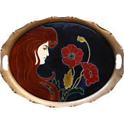 c.1905 Art Nouveau tray by Carl Luber for Johann von Schwarz