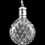 Georgian miniature cut crystal scent perfume bottle