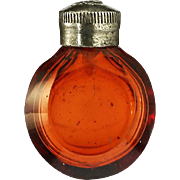 c.1900 Miniature Flashed Ruby Glass Scent Perfume Bottle