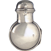 1900 Silver Scent Perfume Bottle Holder with Crystal Bottle
