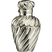 1894 Gadroon Embossed Sterling Silver Scent Perfume Bottle
