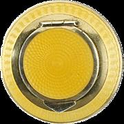 c.1920s Austrian guilloche & 900 silver gilt miniature powder compact