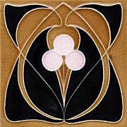 c.1905 Hemixem Belgium Art Nouveau Tile