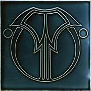 c.1910 Art Nouveau outline tile, Wessel Germany