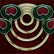 c.1905 Art Nouveau circles tile, NSTG Germany