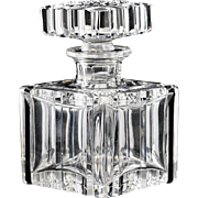 Late 1940s Val St. Lambert Angélique crystal scent perfume bottle, signed