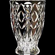 c.1950s Val St. Lambert Kemal plum to clear crystal vase, Charles Graffart