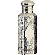 1896 Sterling Silver Scent Perfume Bottle with Vinaigrette