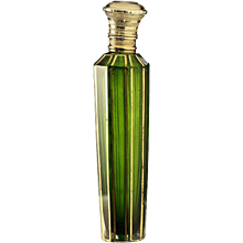 c.1870 French cased green scent perfume bottle, silver gilt top.