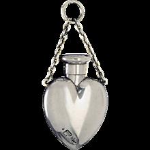 1896 Sampson Mordan sterling silver scent perfume bottle