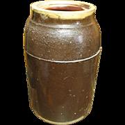 Granny's Early Old Albany Glaze Stoneware Farmhouse Kitchen Canning Jar