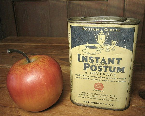 Grandpa's Early Old Instant Postum Beverage Tin - Battle Creek, Michigan