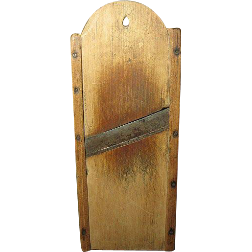 Wonderful Early Wooden Tombstone Shaped Cutter