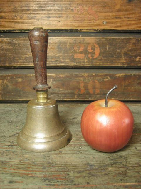 Sweet Old Small Sized One Room School House Bell
