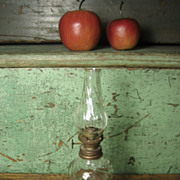 Grandma's Lovely Old Small Swirl Glass Oil Lamp