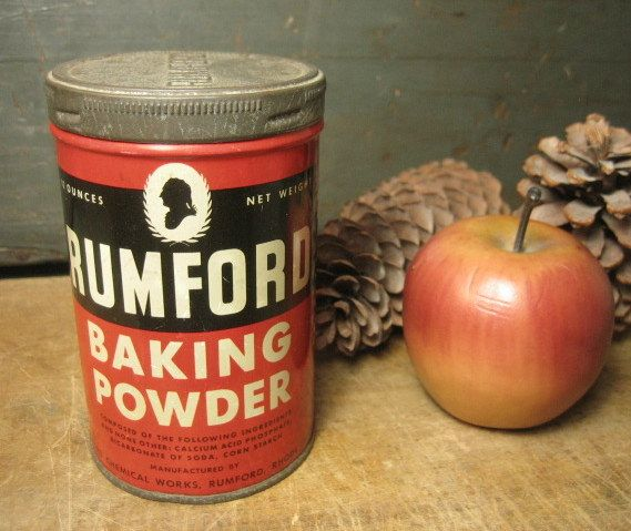 Old Vintage Rumford Baking Powder Advertising Tin – Rhode Island
