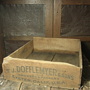 Old Primitive Wooden Fruit Crate Box – Dofflemyer & Sons Advertising
