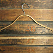 Cool Old Vintage Bentwood Clothes Hanger – Forrest Laundry Advertising
