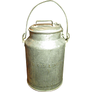Grandma's Old Farmhouse Dairy Barn 8 Qt. Cream Can - 'BUHL-DETROIT'
