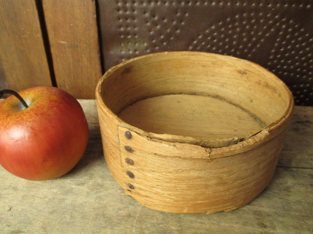 Early Old Primitive Wooden Daniel Cragin Grain Measure