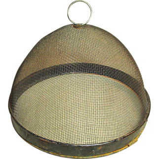 Awesome Old Farmhouse Kitchen Domed Fly Screen Food Cover