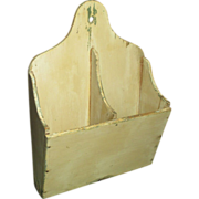 Sweet and Simple Old Divided Handmade Wooden Wall Candle Box - Old Paint