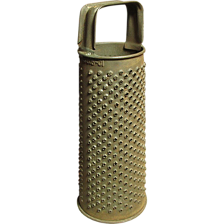 Granny's Small Old Round Farmhouse Kitchen Grater - Dated 1901