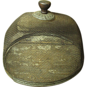 Granny's Early Old Small Sized Fly Screen Food Cover - Wood, Tin, Mesh