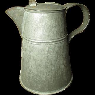 Granny's Early Old Farmhouse Kitchen Tin Coffee Pot