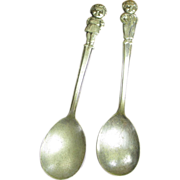 Old Vintage Campbell's Soup Kids Soup Spoons - International Silverplate